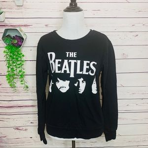 The Beatles Black & White Fitted Pullover Sweater